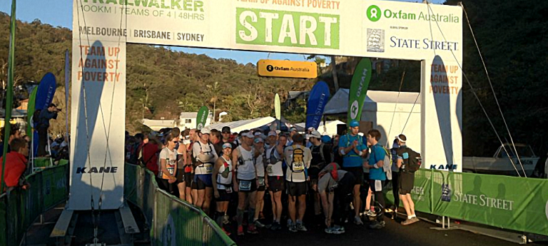 Oxfam Trailwalker Sydney 2012 Start to CP2