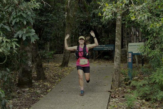 Trail Runner Shona Stephenson winning the Lamington Classic