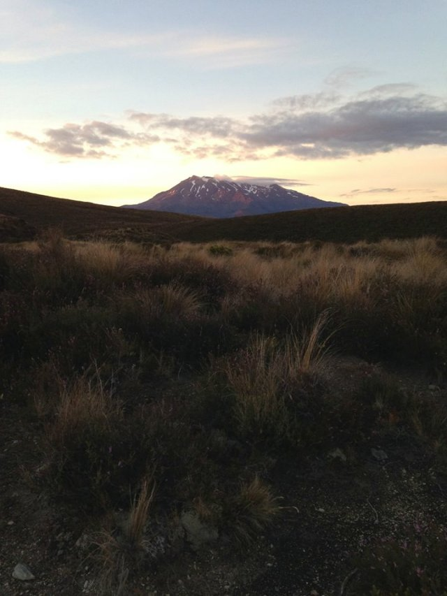 Wow! What a morning. The best conditions for mountain running the Tongariro Northern Circ