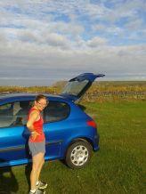 anna at car