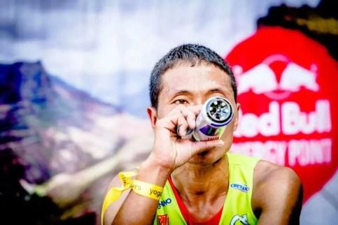 upendra sunuwar skyrace finish drink