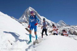 First 500m is over glacier.