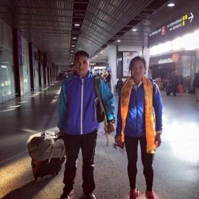 samir tamang and mira rai melbourne airport