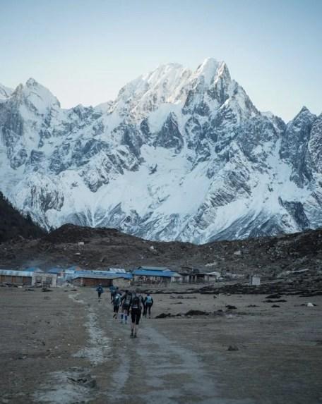 Trail race start Bimtang Nepal