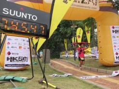 Bishnu Maya Budha finishing nepali runner finishing