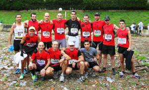 Trail running Basque country: Mugalaris tram ready to take on the Behobia 20k street race.