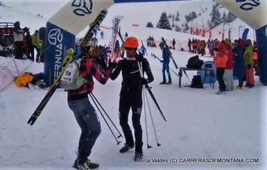 Kilian Jornet & Mattheo Jacquemoud celebrate at Altitoy