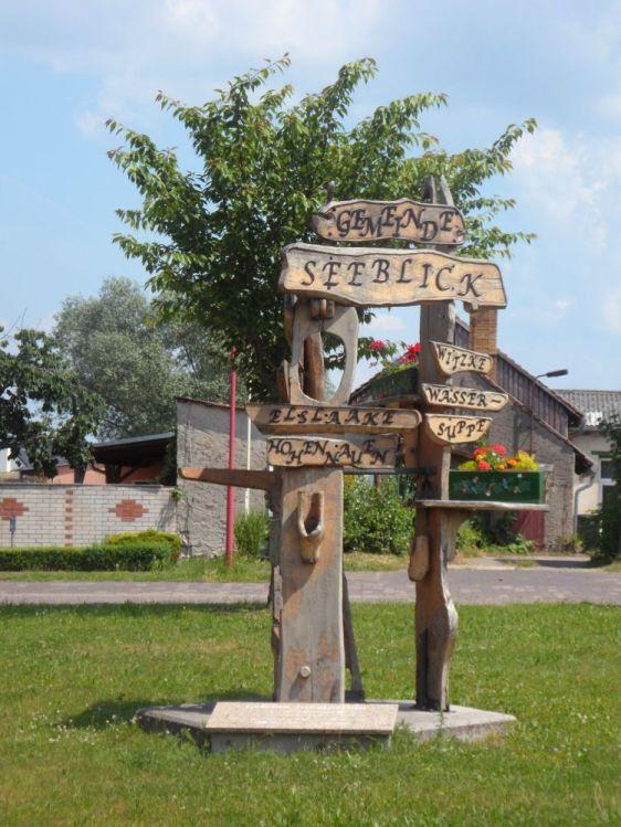 Wegweiser in Hohennauen