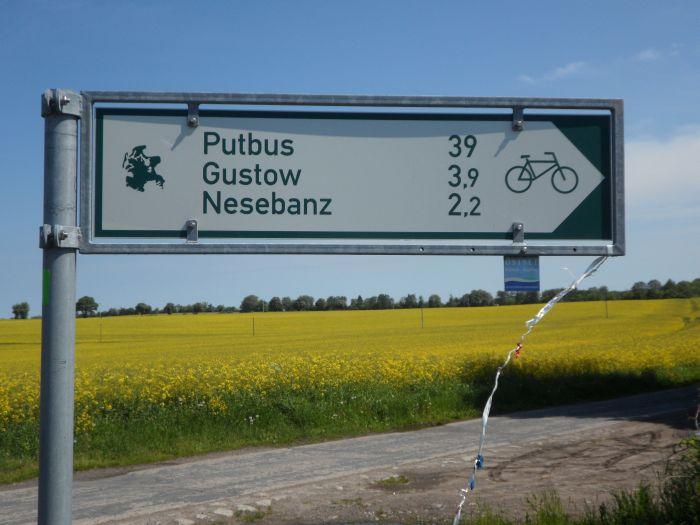 Wegweiser nach Putbus