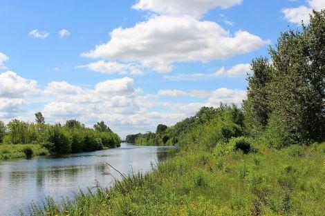 marmorierter Himmel am Havelkanal bei Brieselang