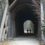 trail tunnel on the Mickelson Trail in South Dakota