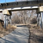 coal creek trail under railroad overpass