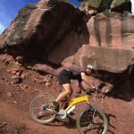mountain bike trail in red rocks