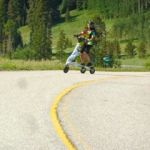 Trikke riding down Vail Pass Trail in Colorado