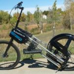 StrideRide elliptical bike on autumn trail