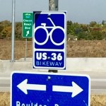 sign on US 36 bikeway