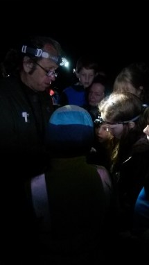 For many of the group, this was their first close encounter with a bat and they were very excited.