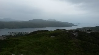 Views over Loch Broom and Ullapool harbour from Meall Mor.