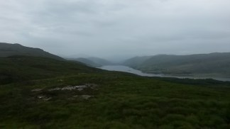 Looking inland: views of Loch Achall from Meall Mor.