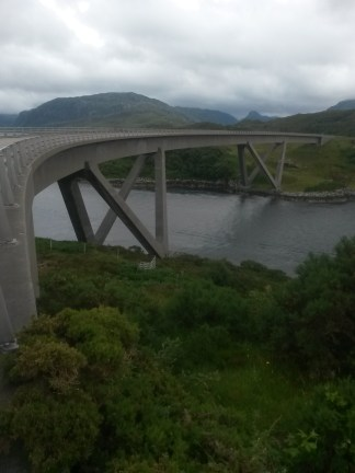 Kylesku Bridge facing South towards Unapool.