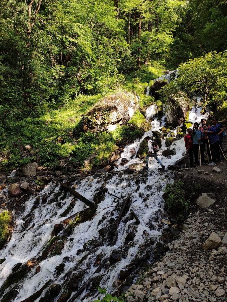 Necklace Waterfalls En Route Kheerganga Trek Summit