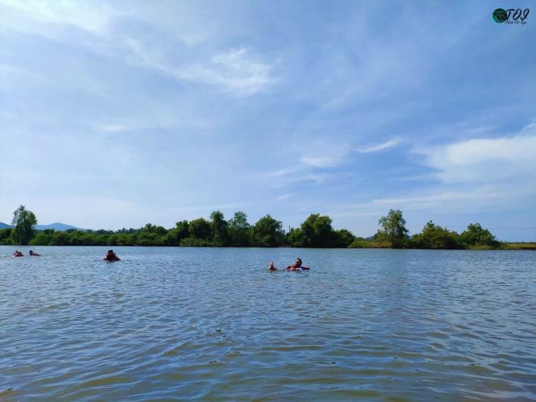 Swimming In Kali River in Karwar