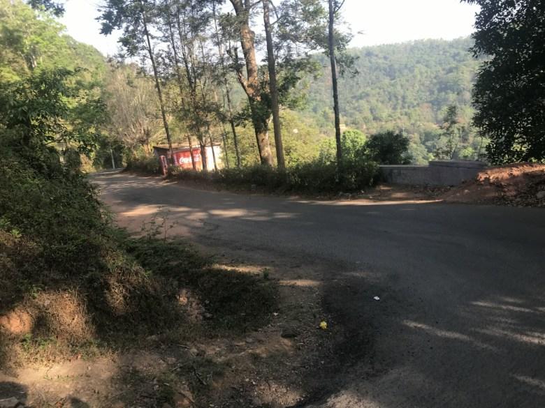 Cliff Edge Roads En Route Abbey Falls Madikeri Coorg