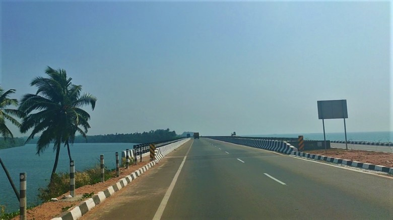Sea And River Near Maravanthe Beach