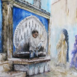 At the Fountain – giclee print