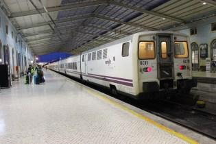 Nighttrain from Lisbon, Portugal to Madrid, Spain