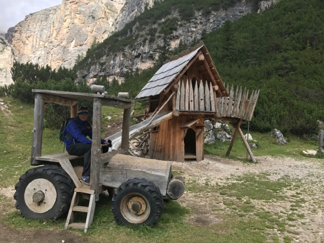 The children of Dolomiti land have the best playground equipment.