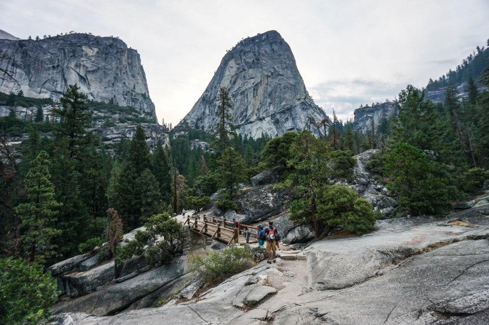 Yosemite Half Dome Hike Nevada Fall