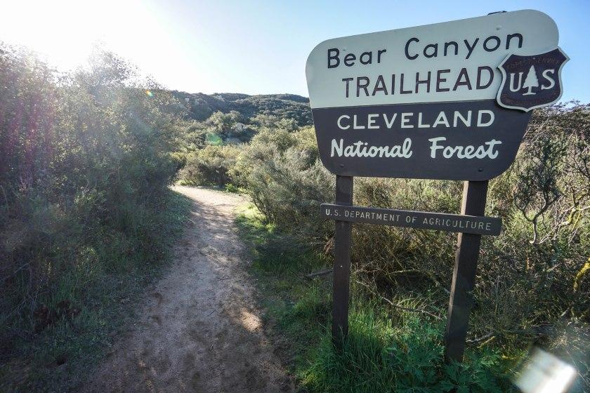 Sitton Peak Trail Bear Canyon Trailhead