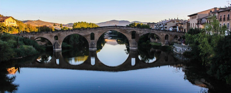Camino de Santiago Puenta La Reina Bridge