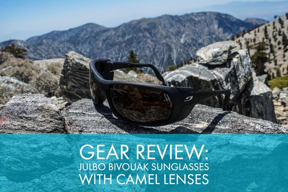 cd8992fc9ff Gear Review  Julbo Bivouak Sunglasses With Camel Lenses - Trail to Peak
