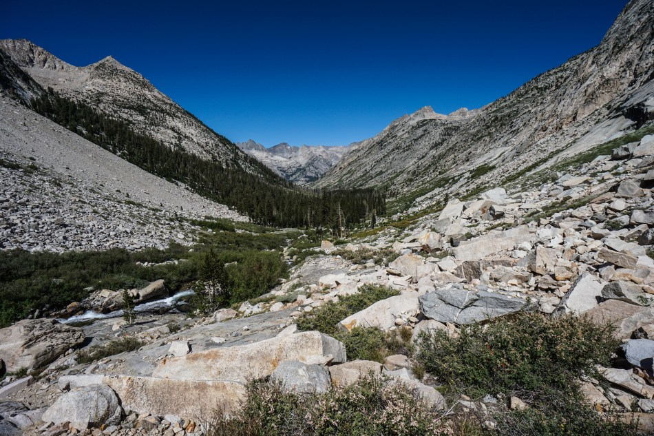 John Muir Trail Mather Pass Lake Marjorie