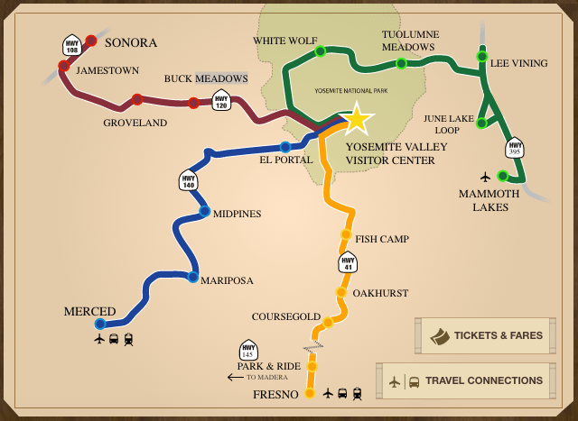 Yarts John Muir Trail Map