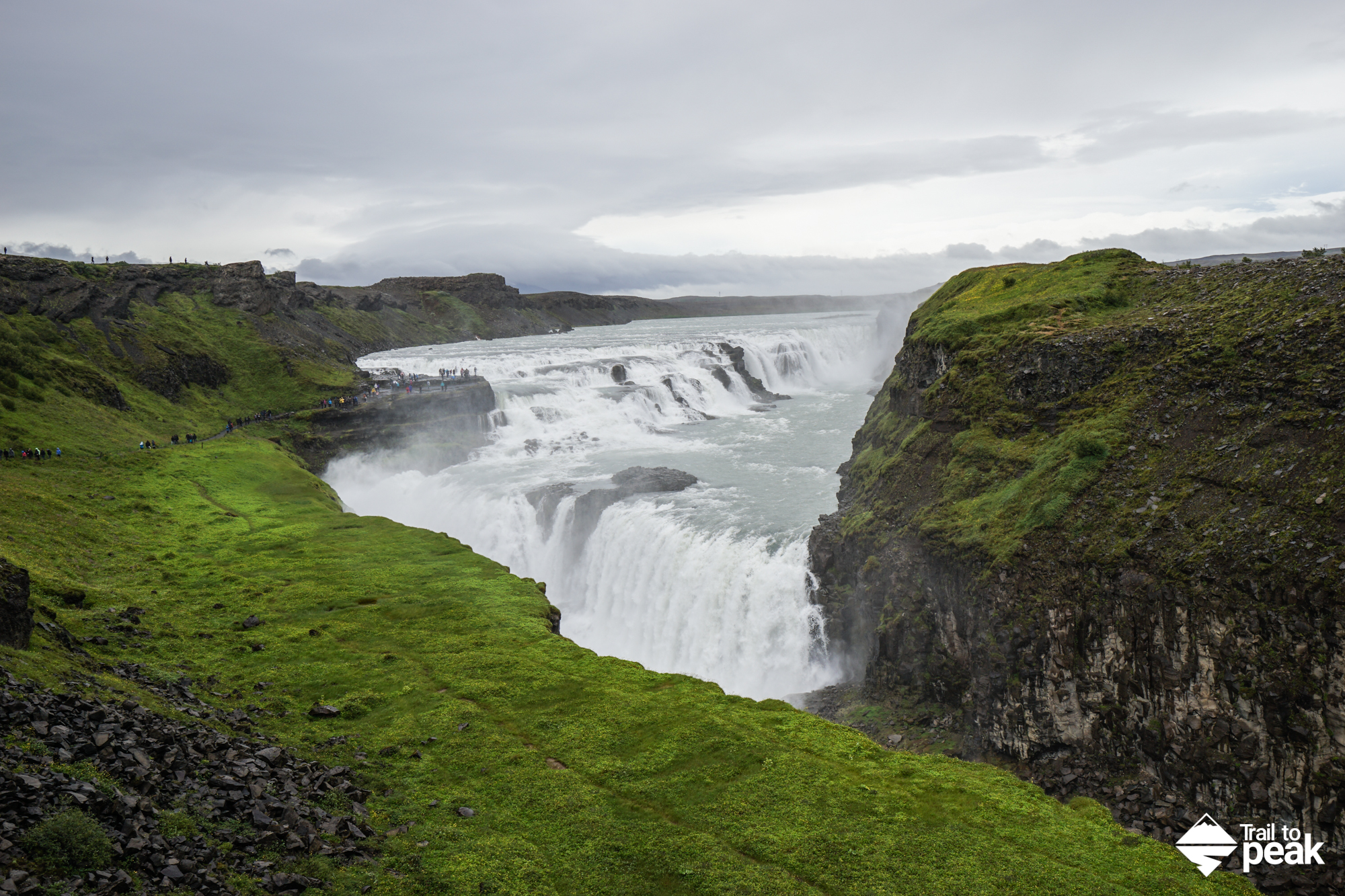 Driving Iceland's Golden Circle Gullfoss