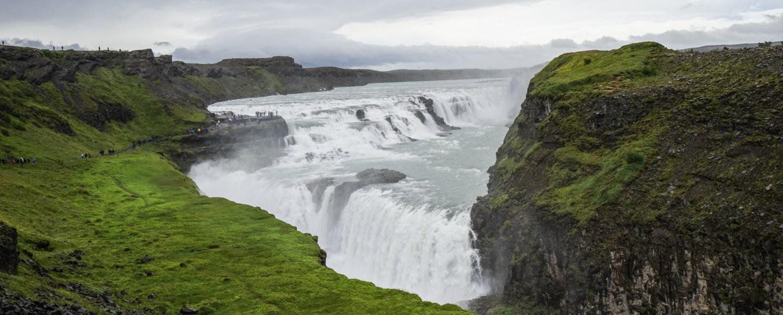 Driving Iceland's Golden Circle Gullfoss