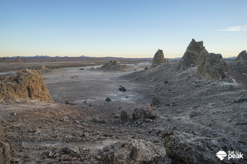 Camping At Trona Pinnacles In The California Desert