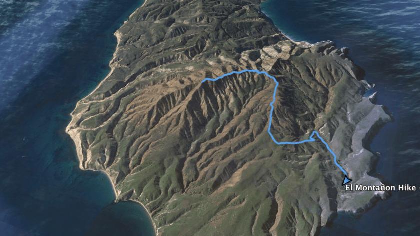 Hiking to El Montanon Peak – Santa Cruz Island