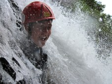 Feeling the weight of the waterfall water on your shoulders is an amazing feeling!