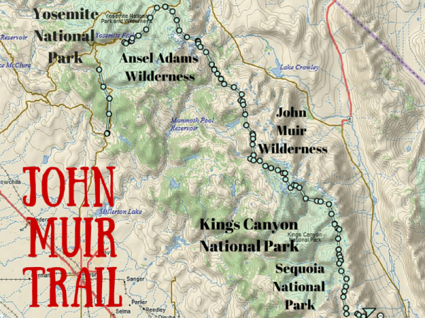 John Muir Trail Map