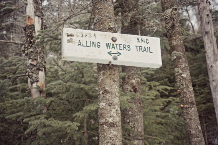 16- falling waters trail sign