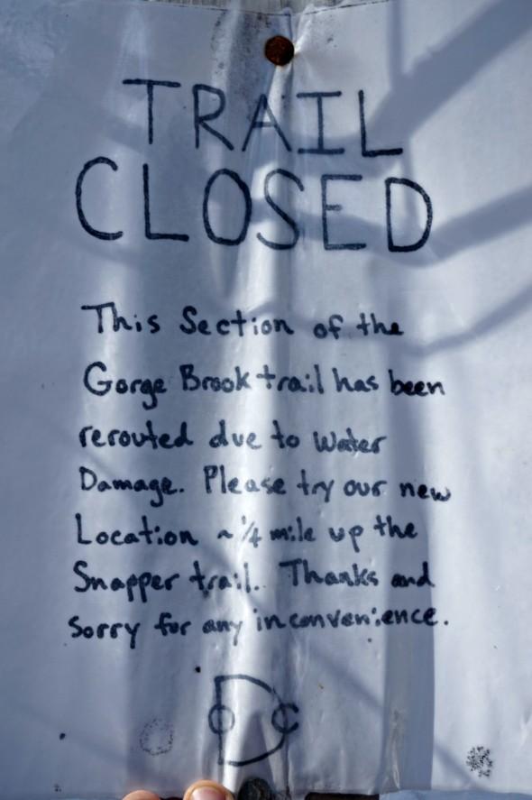 moosilauke trail closure