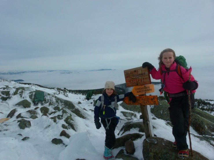 Alex and Sage atop Mount Moosilauke January 2013- PC Patricia Herr
