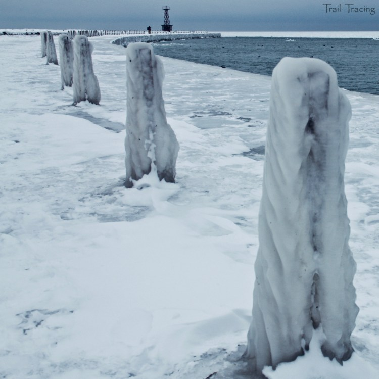 Icy Posts on Montrose Beach