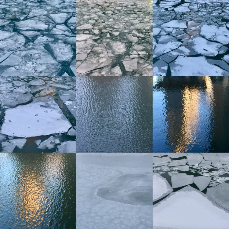 Chicago River - Frozen and Unfrozen