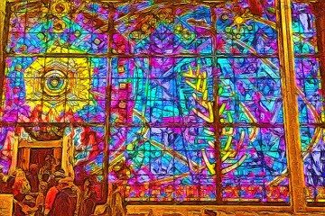 Loop Synagogue Stained Glass