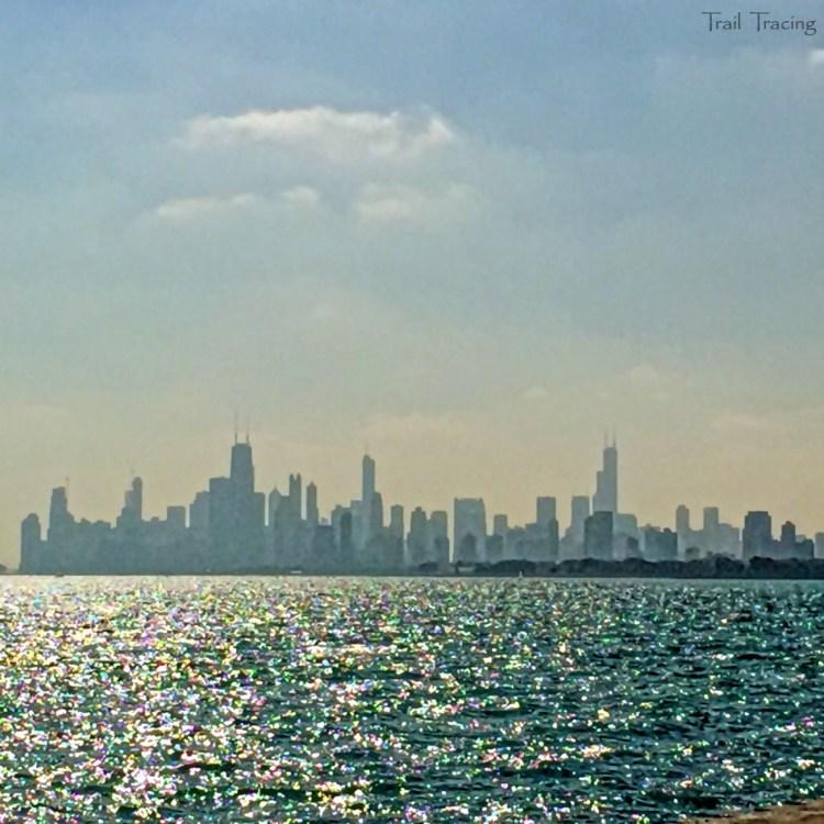 Montrose Point Chicago Skyline